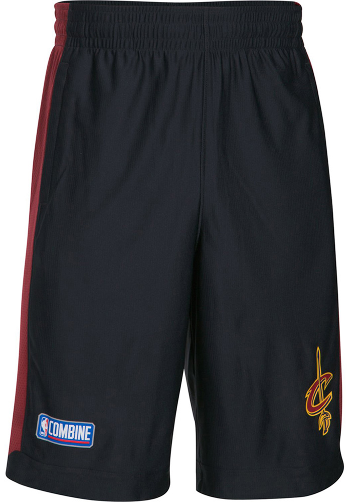 Under Armour Cleveland Cavaliers Mens Black Core Isolation Shorts, Black, 100% POLYESTER, Size M