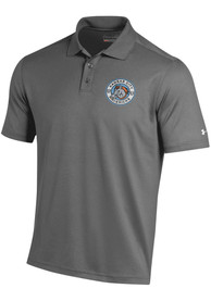 Under Armour Kansas City Mavericks Charcoal Primary Logo Short Sleeve Polo Shirt