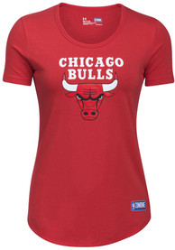 Under Armour Chicago Bulls Womens Primary Logo Red T-Shirt