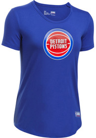 Under Armour Detroit Pistons Womens Primary Logo Blue T-Shirt