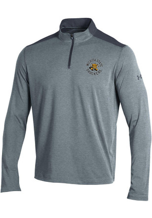 Under Armour Wichita State Shockers Mens Grey Charged Cotton 1/4 Zip Pullover