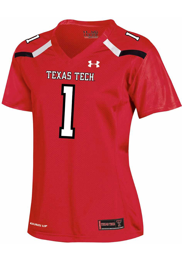 promo code 57aae 5634d Under Armour Texas Tech Red Raiders Womens Red Jersey Football Jersey
