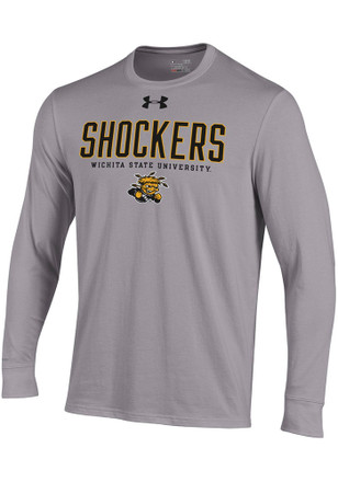 Under Armour Wichita State Shockers Mens Grey Charged Cotton Tee