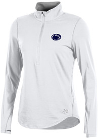 Under Armour Penn State Nittany Lions Womens Charged Cotton White 1/4 Zip Pullover