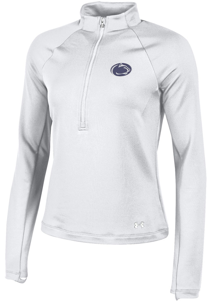 Under Armour Penn State Womens White Terry back 1/4 Zip Pullover - Image 1