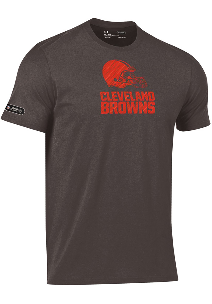 Under Armour Cleveland Browns Brown Primary Logo Short Sleeve T Shirt - Image 1
