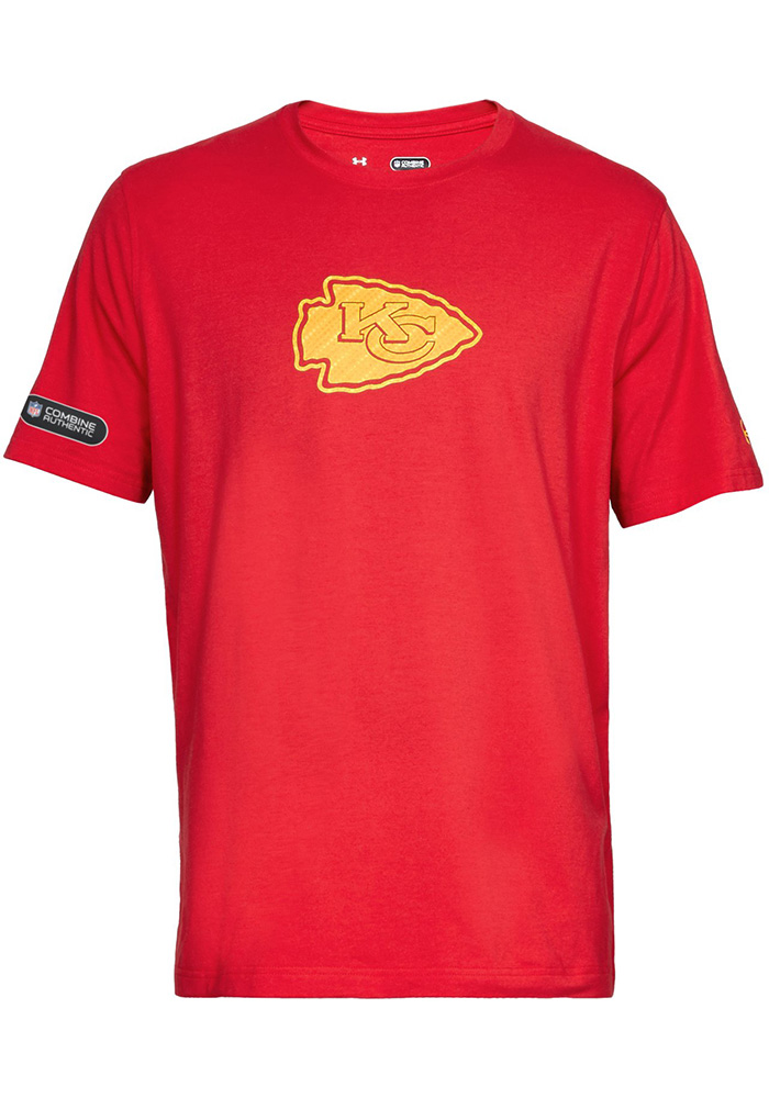 Under Armour Kansas City Chiefs Red Primary Logo Short Sleeve T Shirt - Image 1