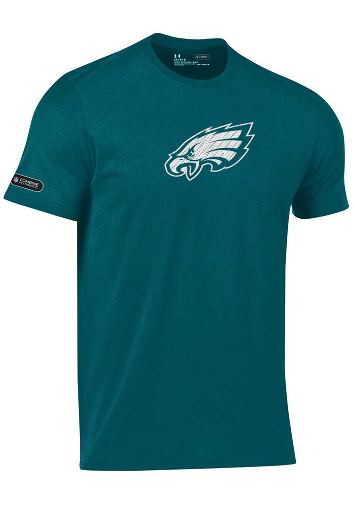 Under Armour Philadelphia Eagles Green Primary Logo Short Sleeve T Shirt - Image 1