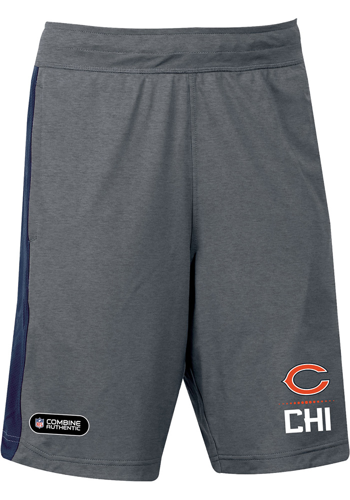 Under Armour Chicago Bears Mens Black Combine Lockup Shorts - Image 1