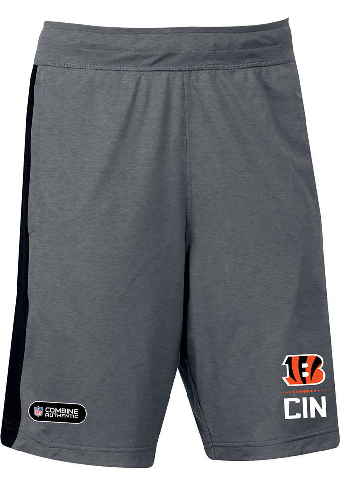 Under Armour Cincinnati Bengals Mens Black Combine Lockup Shorts - Image 1