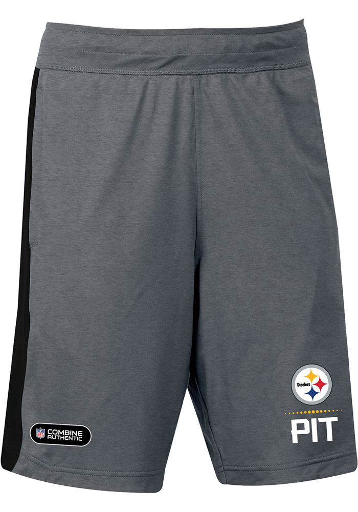 f4b11240 Under Armour Pittsburgh Steelers Mens Black Combine Lockup Shorts