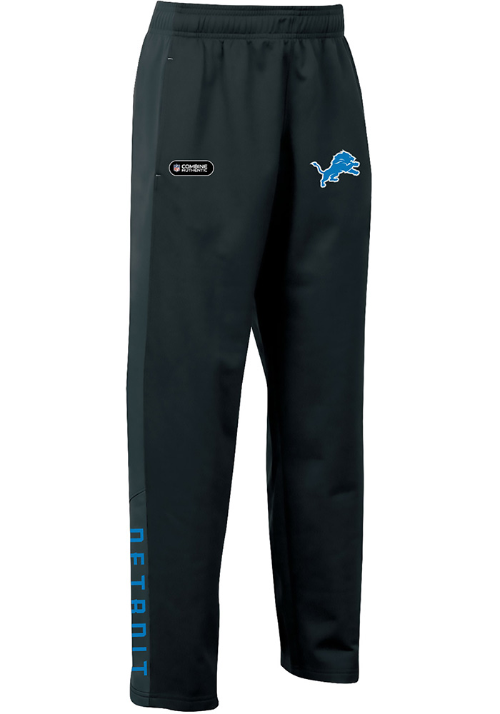 Under Armour Detroit Lions Youth Black Brawler Track Pants - Image 1