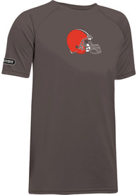 07621dc0 Under Armour Cleveland Browns Youth Brown Combine Logo T-Shirt