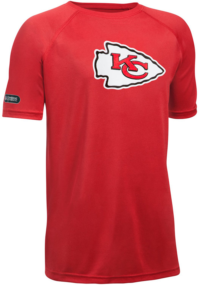 3803b1c7a Under Armour Kansas City Chiefs Youth Red Combine Logo T-Shirt