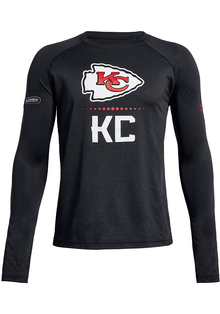 6b5023138 Under Armour Kansas City Chiefs Youth Black Combine Authentic T-Shirt
