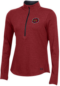 Under Armour Temple Owls Womens Freestyle Cardinal 1/4 Zip Pullover