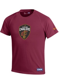 Cleveland Cavaliers Under Armour Primary Logo Tech T Shirt - Red