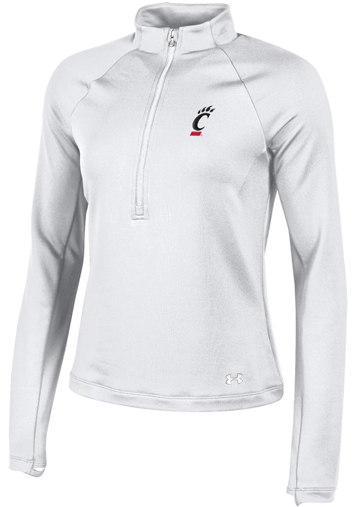 Under Armour Cincinnati Bearcats Womens Terry back White 1/4 Zip Pullover