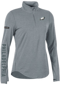 b5712a80 Under Armour Philadelphia Eagles Womens Combine Authentic Grey 1/4 Zip  Pullover