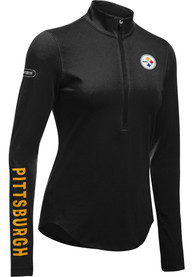 Pittsburgh Steelers Womens Under Armour Combine Authentic 1/4 Zip - Black