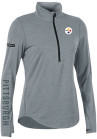 Under Armour Pittsburgh Steelers Womens Combine Authentic Grey 1/4 Zip Pullover