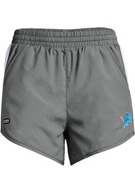 Detroit Lions Womens Under Armour Combine Authentic Shorts - Grey