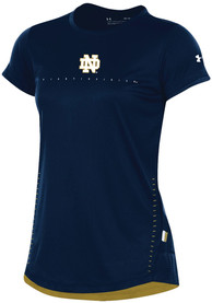 Under Armour Notre Dame Fighting Irish Womens Training Navy Blue Short Sleeve Tee