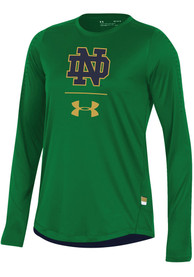 Under Armour Notre Dame Fighting Irish Womens Training Green T-Shirt