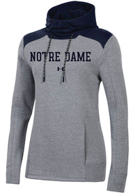 Under Armour Notre Dame Fighting Irish Womens Navy Blue Threadborne Hoodie
