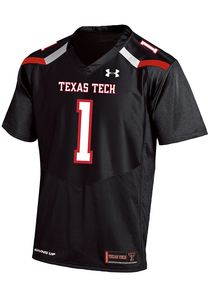 3bcc153fd6b Under Armour Texas Tech Red Raiders Mens Black Replica Football Football  Jersey - Image 1
