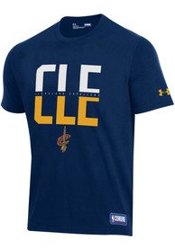 Cleveland Cavaliers Under Armour City T Shirt - Navy Blue