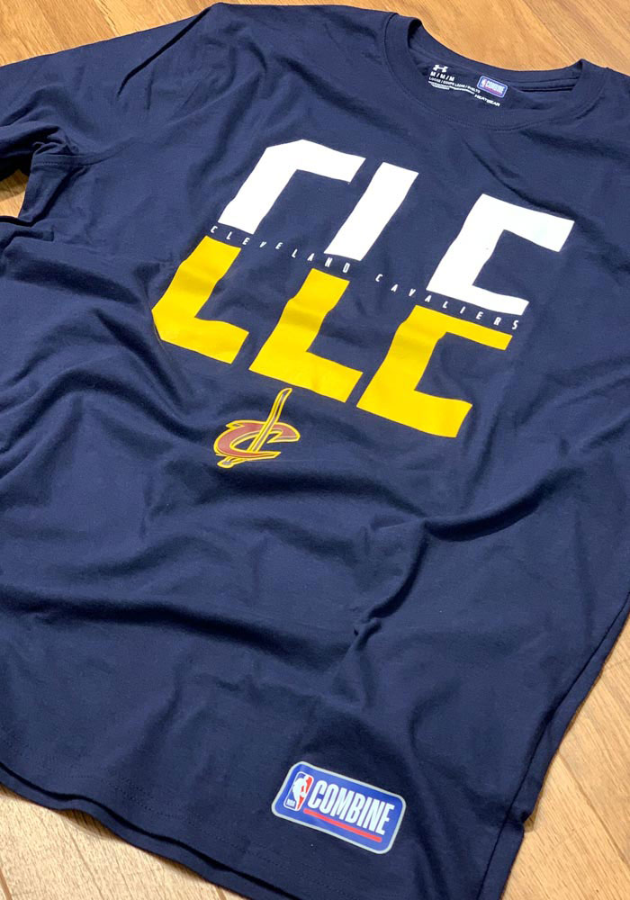 Under Armour Cleveland Cavaliers Navy Blue City Short Sleeve T Shirt - Image 2