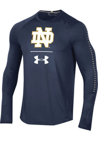 Under Armour Notre Dame Fighting Irish Navy Blue Long Sleeve Raid Tee