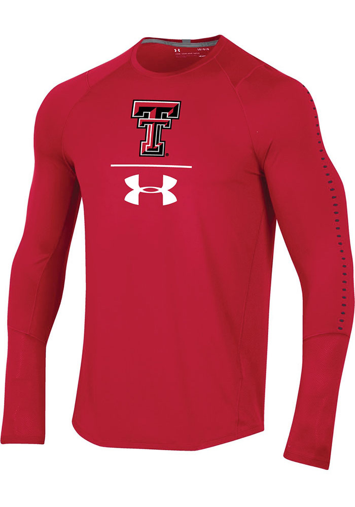Under Armour Texas Tech Red Raiders Red Long Sleeve Raid Long Sleeve T-Shirt - Image 1