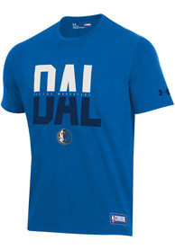 Dallas Mavericks Under Armour City T Shirt - Blue