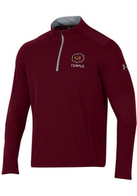 Temple Owls Under Armour Threadborne Ridge 1/4 Zip Pullover - Maroon