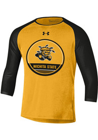 Wichita State Shockers Under Armour Freestyle Half Sleeve T Shirt - Gold