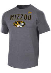 Missouri Tigers Under Armour Freestyle Long Line T Shirt - Charcoal