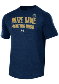 Under Armour Notre Dame Fighting Irish Navy Blue Freestyle Long Line Tee