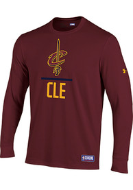 Under Armour Cleveland Cavaliers Red Lockup Tee