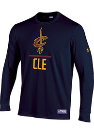 Under Armour Cleveland Cavaliers Navy Blue Lockup Tee