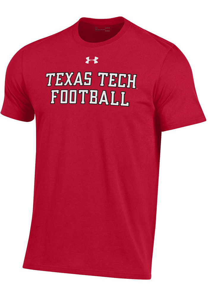 Under Armour Texas Tech Red Raiders Red Mahomes Short Sleeve T Shirt - Image 2