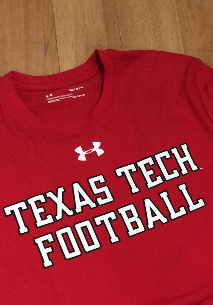 118028812 Under Armour Texas Tech Red Raiders Red Mahomes Short Sleeve T Shirt -  Image 4