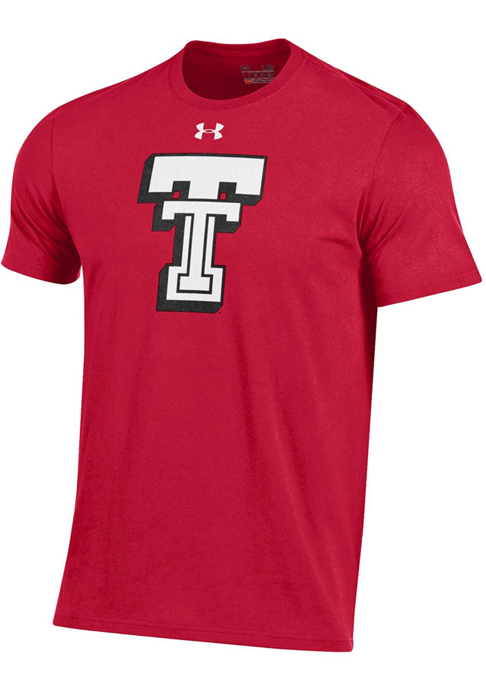 Under Armour Texas Tech Red Raiders Red Throwback Short Sleeve T Shirt - Image 1