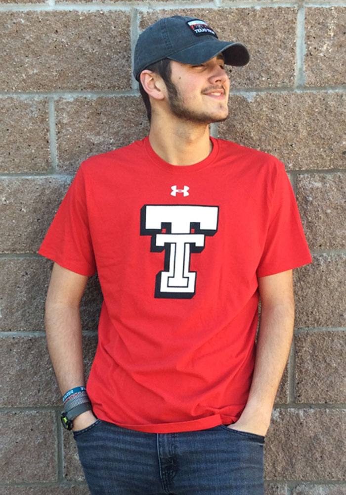 Under Armour Texas Tech Red Raiders Red Throwback Short Sleeve T Shirt - Image 2