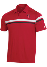 Texas Tech Red Raiders Under Armour Sideline Tour Drive Polo Shirt - Red