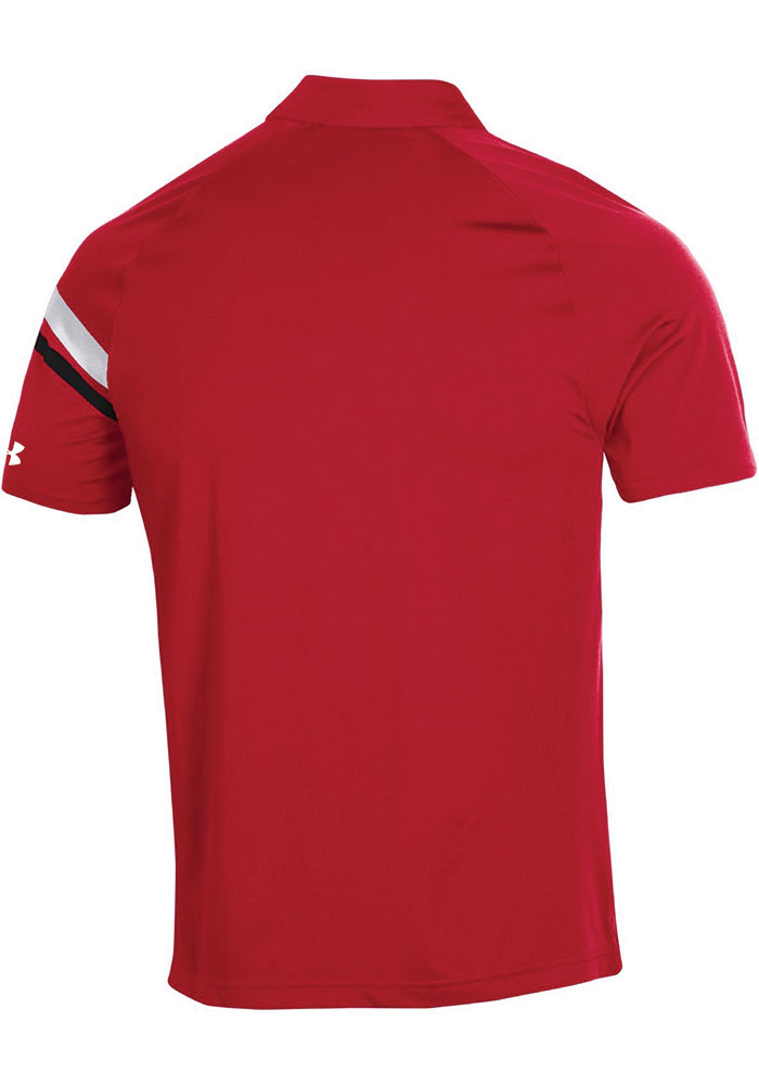 Under Armour Texas Tech Red Raiders Mens Red Sideline Tour Drive Short Sleeve Polo - Image 2
