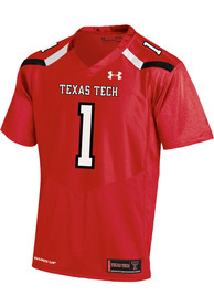 Texas Tech Red Raiders Under Armour Replica Football Jersey - Red