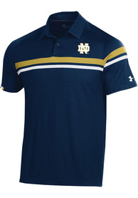 Under Armour Notre Dame Fighting Irish Navy Blue Sideline Tour Drive Short Sleeve Polo Shirt
