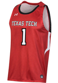Texas Tech Red Raiders Under Armour Replica Basketball Jersey - Red